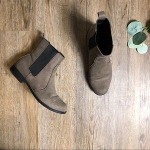 H&M Grey Suede Ankle Chelsea Boots